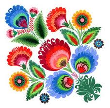 Hungarian Folk Art Embroidery Features Stylized Plants And Flowers