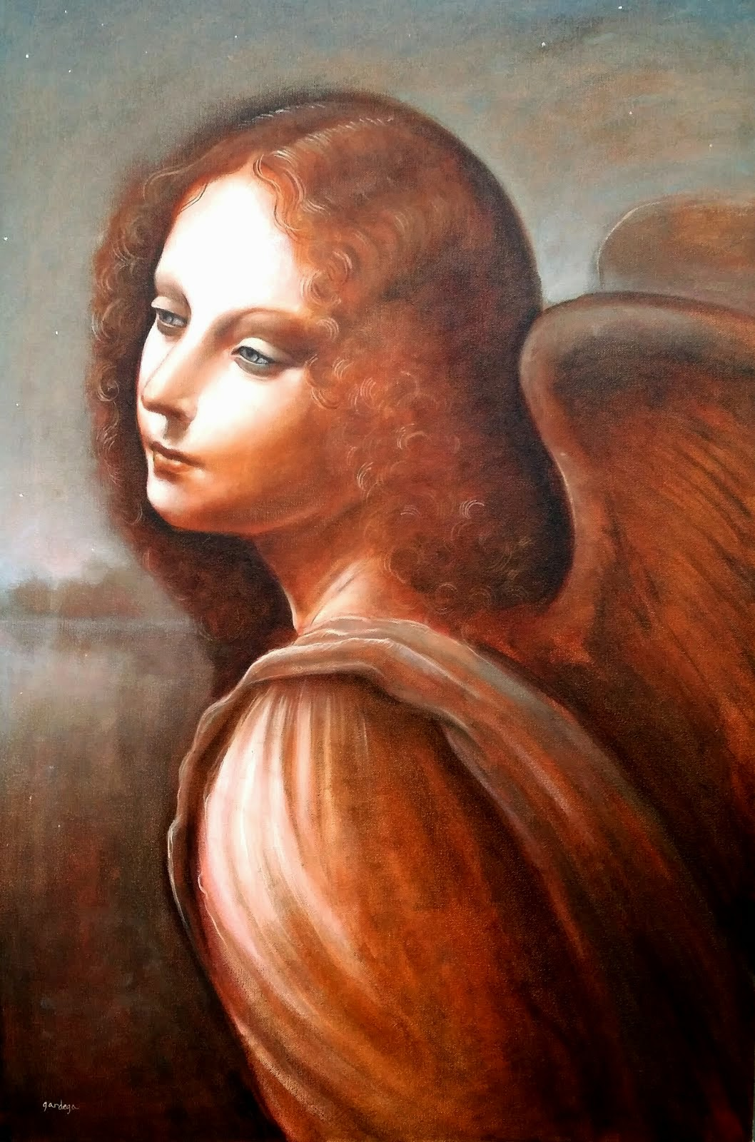 ANGEL TIME LAPSE PAINTING