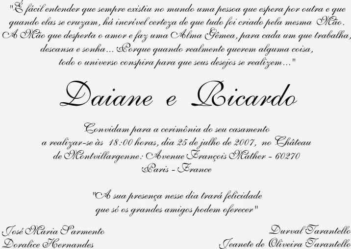 Aryane Moren Assessoria De Marketing Frases Para Convites De Casamento