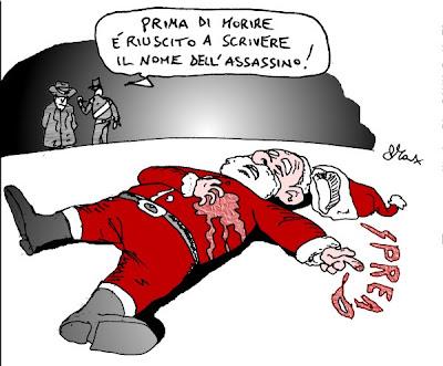 Babbo Natale Assassino.Inserto Satirico Buon Natale