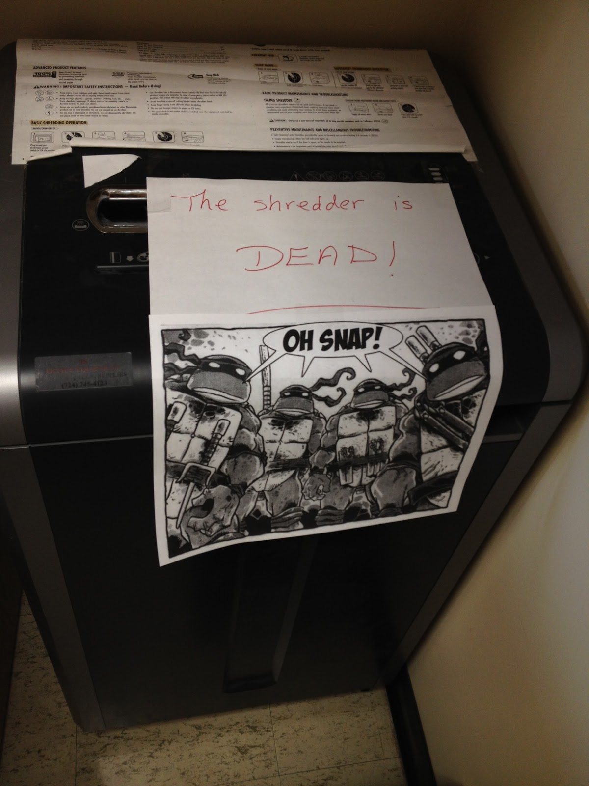 Shredder is Dead