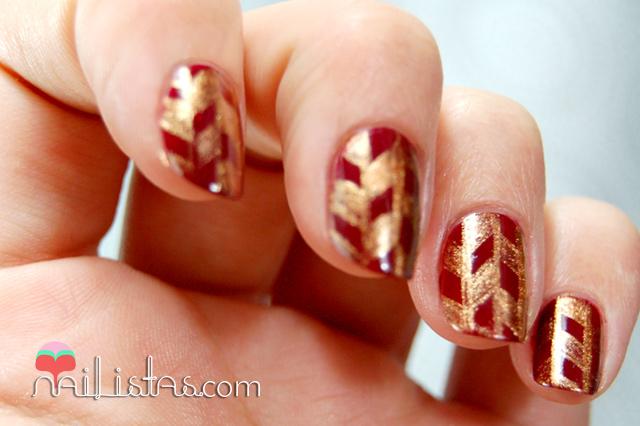Uñas decoradas con motivos geométricos // Tutorial