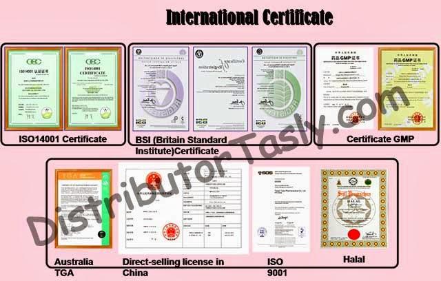 sertifikat internasional danshen plus obat jantung
