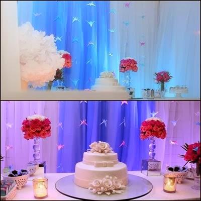 decoração de aniversário de 1 ano de casamento