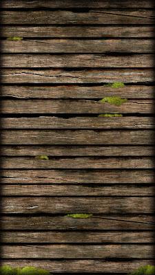 Moss Hard Wood iPhone 5 Home Screen Wallpaper