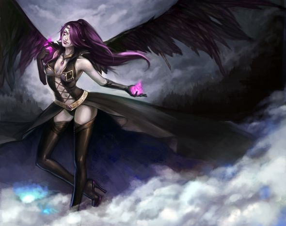 Noa Ikeda deviantart illustrations women female characters fantasy Succubus Morgana