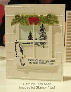 Stampin' Up! Happy Scenes & Festive Fireplace stamp sets + Hearth & Home Thinlits from NEW Holiday Catalog #stampinup