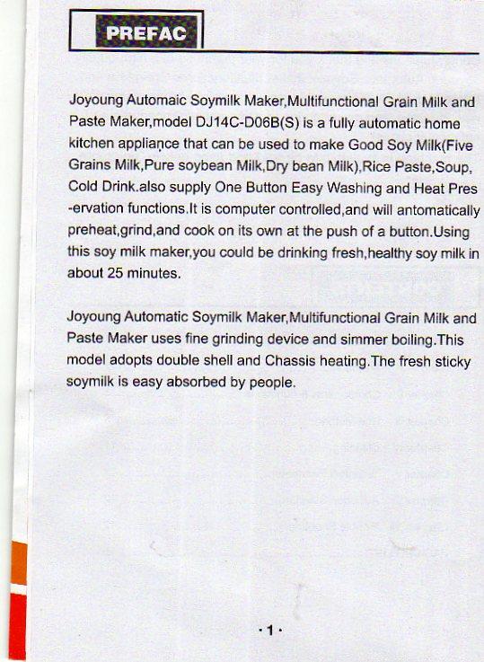 midea soy milk maker manual