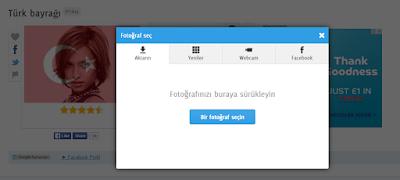 Facebook Profil resmine Türk Bayrağı eklemek, Facebook Profil fotoğrafına Türk Bayrağı efekti vermek