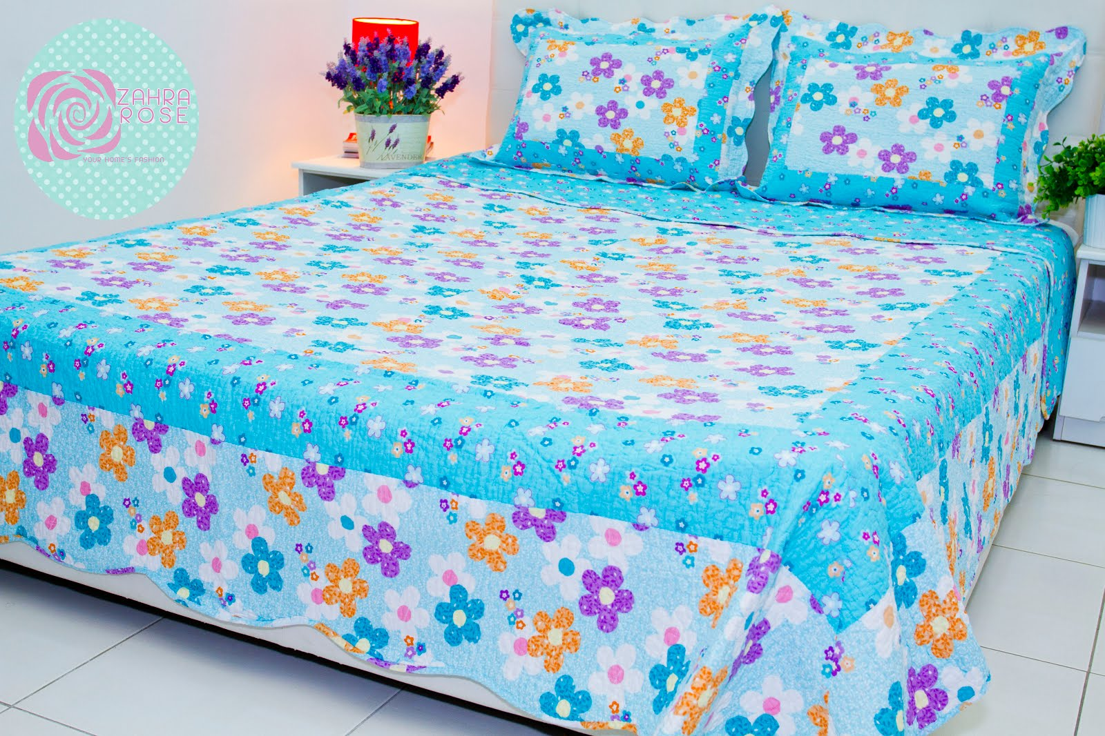 Patchwork bed sheets patterns - Zahra Rose Design Cotton Patchwork Bed Sheet
