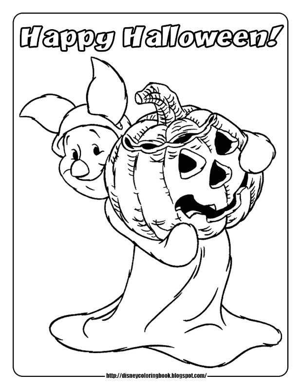 Pooh and Friends Halloween 1 : Free Disney Halloween Coloring Pages title=