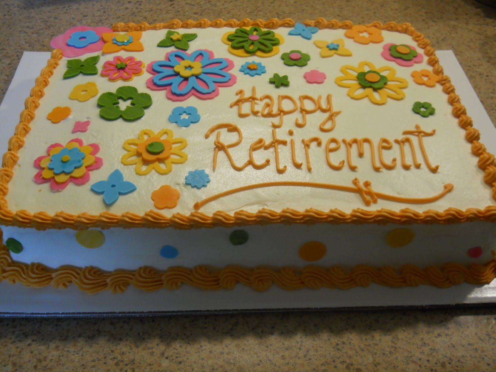 Le Mie Cose Favorites: Retirement Cake - 2nd time using ...