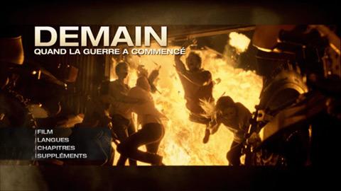 Menu dvd de Demain quand la guerre a commencé