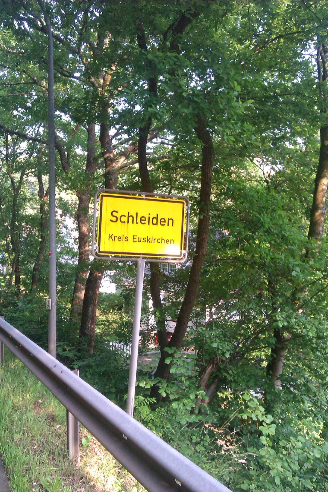 Entering village called Schleiden