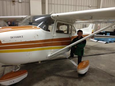 Jacob posing with the SkyHawk II