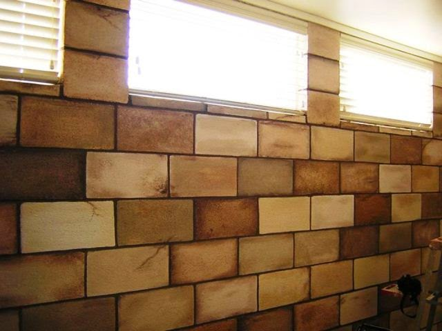 Wall painting colors for basement for Block basement walls