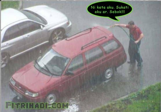 gambar basuh kereta dalam hujan