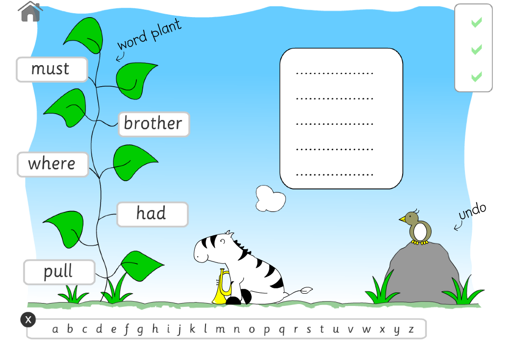 alphabetical order game for iPad and Android