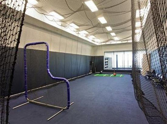 photo of alex rodriguez a-rod miami beach home mansion's baseball cage