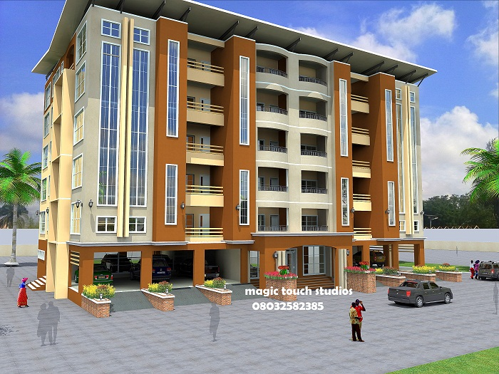 2 bedroom twin apartment homes for Apartment plans in nigeria