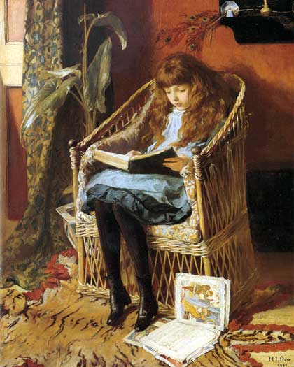 What I Blog About When I Blog About Books Notd Girl On: Girl With A Book In Painting