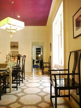Rosa Beltran Design Diy Stencil Painted Floor Round