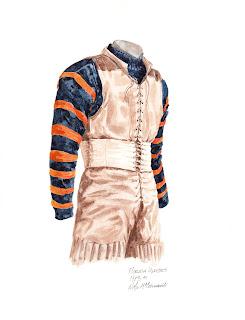 1913 University of Florida Gators football uniform original art for sale