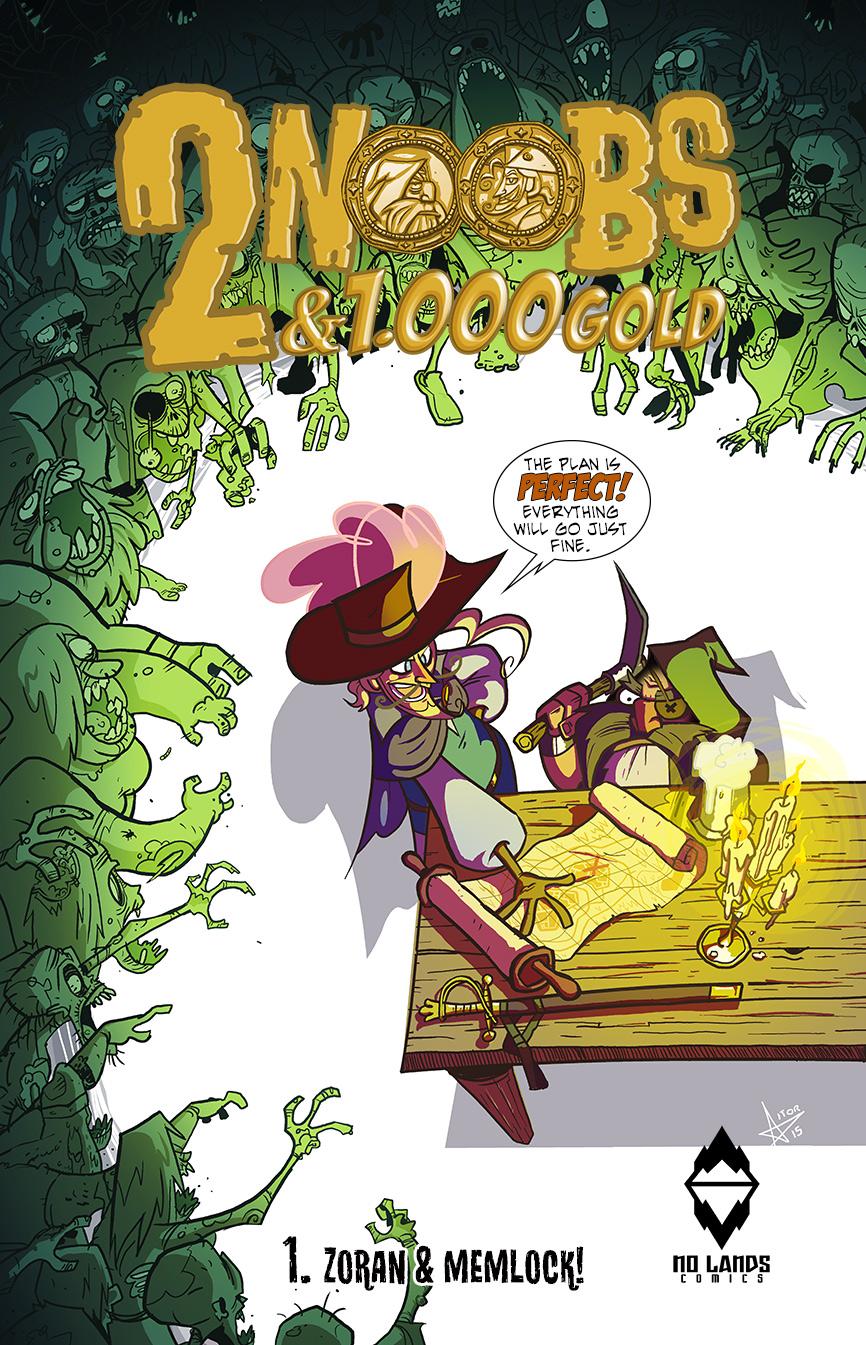 2 NOOBS & 1000 GOLD: ZORAN E MEMLOCK DELLA NO LANDS COMICS - RECENSIONE