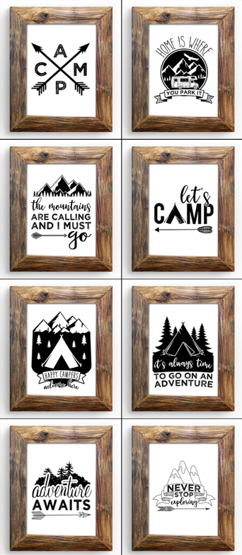 LATEST IN THE SHOP: Eight Campy Printables