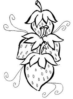 Desenhos Para Colorir morango vermelho