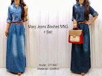 071847 Gamis Jeans Washed SOLD OUT