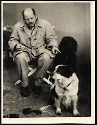 Photos of Artists and Their Dogs