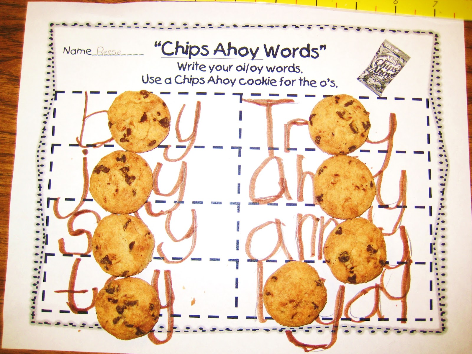 worksheet Words With Oi first grade wow chips ahoy wednesday april 11 2012