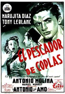 El pescador de coplas 1954 | Cine clasico español | Antonio Molina