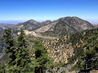 View northwest toward Hwy 2 and Mt. Williamson from Islip Ridge Trail, Crystal Lake, Angeles National Forest