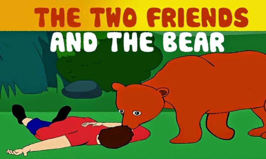 the bear and the two friends fable