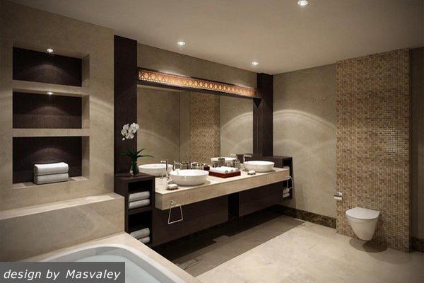 Ванна с нишей дизайн