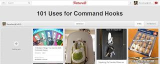 Pinterest, command hooks, organising with command hooks, 3M hooks