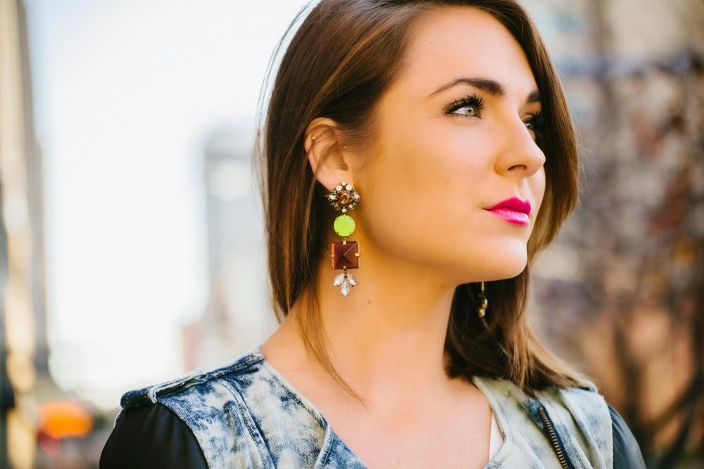 J. Crew statement earrings   In good faith, Tess