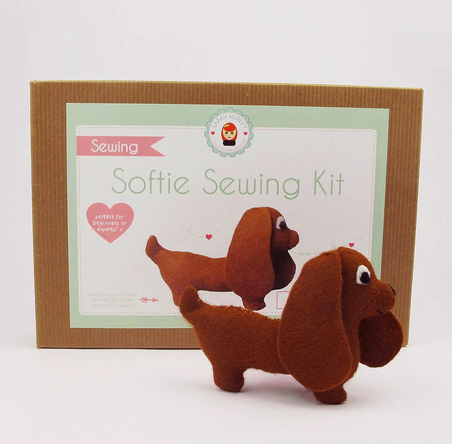 Sarah Hurley Make Your Own Sausage Dog Kit - available at Etsy House!