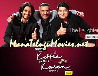 Ritesh,Boman,Sajid Khan in Koffee with Karan -13th Feb