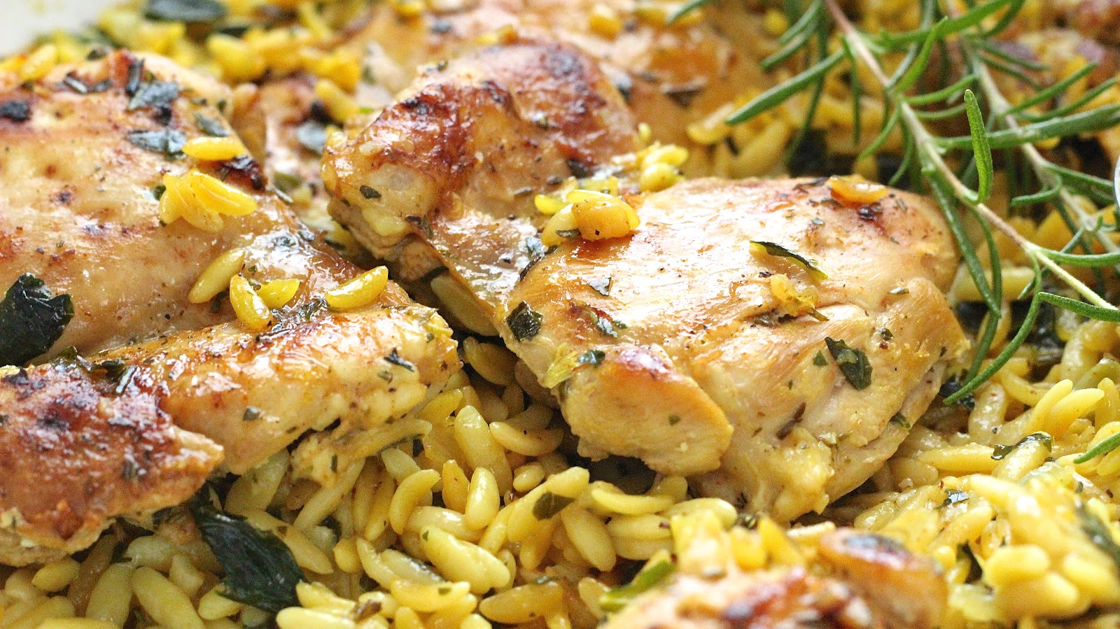 GARLIC ROSEMARY CHICKEN WITH LEMONY ORZO | In Good Flavor ...