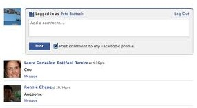 facebook blogger comment box