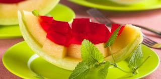 Melão com gelatina light