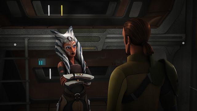 "Ahsoka's like, ""Why did I agree to be in this episode?"""