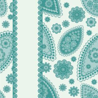 縦に帯の入ったペイズリー柄の背景 beautiful pattern background イラスト素材