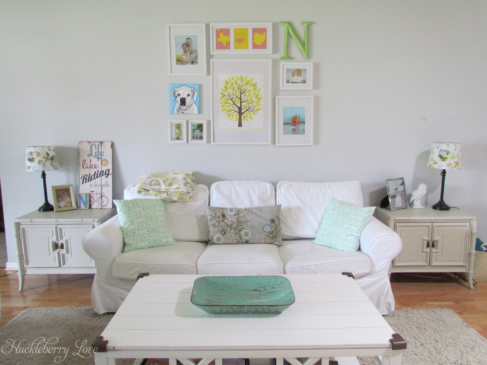 Huckleberry Love: Simple Gallery Wall & Living Room Reveal