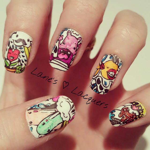40-great-nail-art-ideas-hobbies-colouring-in-nail-art (1)