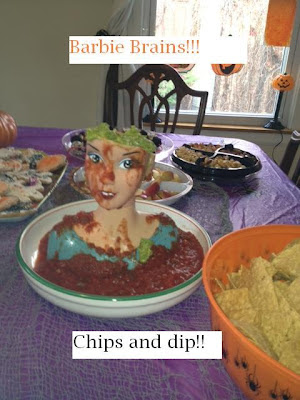 barbie+brain+chips+dip+halloween