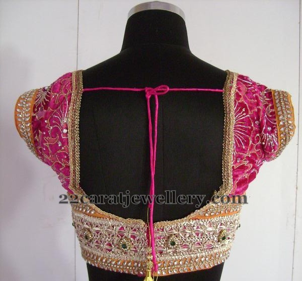 Blouse Neck Designs With Lace 2